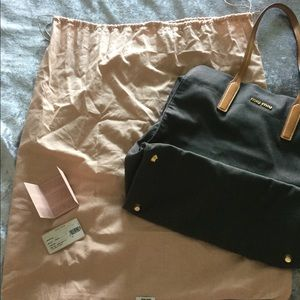 Authentic Miu Miu Tote With Duster And Cards!